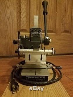 Kingsley Hot Foil Stamping Machine Model M-101 Digital Multi Line Machine
