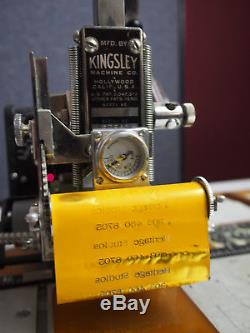 Kingsley Hot Foil Stamping Machine Model M-75 (relisted, corrected shipping)