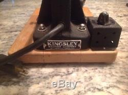 Kingsley Hot Foil Stamping Machine with Foil Roll Model M-50 Excellent Free Ship