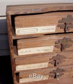 Kingsley Hot Foil Stamping Wooden Cabinet With4 Cases Type Set Gothic Park Ave