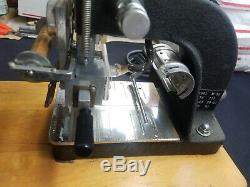 Kingsley Machine Model M-50 Two Line Gold Hot Foil Stamping Machine Embossing