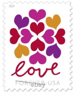 LOVE HEARTS BLOSSOM USPS FOREVER STAMPS 15 Panes of 20 (300 stamps) USA #565000