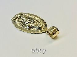 Large 1.65 10k Solid Yellow Gold Virgin Mary Guadalupe Pendant 5 Gr