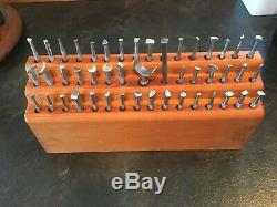 Lot of 47 Leather Tools Vintage Craftool Co. USA Barnes Stamp Pre 63