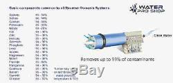 MADE IN USA Reverse Osmosis Water Filter System 5 Stage 75 GPD Clear Housing