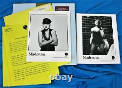 MADONNA PROMO LOT THE IMMACULATE COLLECTION 12 VINYL & PRESS KIT Gold Stamp LP