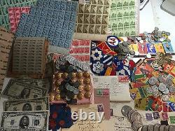 MEGA LOT(19) WWII COINS+CURRENCY+STAMPS+TOKENS+PIN-UPs+UNIFORM+MEMORABILIA #&20