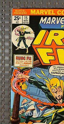 Marvel Premiere 15 1st App. Iron Fist! White Pages With Value Stamp High Grade