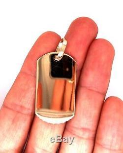 Mens 10K Solid Yellow Gold Custom Dog Tag Charm Pendant, 1.53, 8.8 Grams