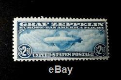 Mint US Stamps Scott C13-C15 $. 65, $1.30 & $2.60 Graf Zeppelins Complete OG LH