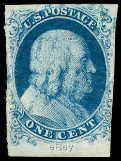 Momen US Stamps #6b Used Pos. 96R4 VF PF Cert