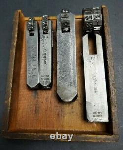 NUMBERALL USA 1/8 & 1/4 Rotary Steel Stamp Letter Number Machinist Vintage