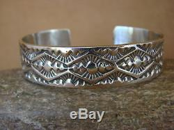 Native American Jewelry Hand Stamped Sterling Silver