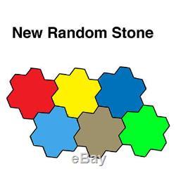 New Random Stone Concrete Stamp Set by Walttools 5 pc. (Series 2)