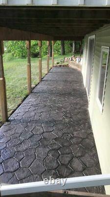 New Random Stone Single Tile Concrete Stamp by Walttools (Floppy/Flex)