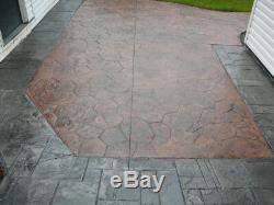 New Random Stone Tile Concrete Stamp Set by Walttools 8 pc