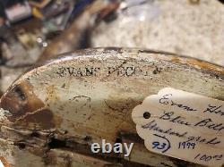Nice Wisconsin Ink Stamp Evans Hen Blue Bill Duck Decoy