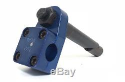 Old School BMX Pro Neck Stamped National Pro Quill 1 Stem with OG Blue Ano Finish
