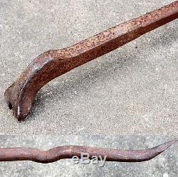 Old US Railroad RR Spike Puller Crow Pry Bar 59 Long Heavy Duty Stamped 26.5 lb