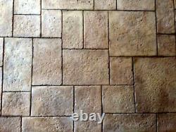 Old World Ashler Aged Stone Tile Concrete Stamp Set by Walttools 5 PC. Set