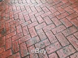 Olde Town Herringbone Brick Pattern Concrete Stamp Set by Walttools (5 pc.)