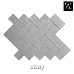 Olde Town Herringbone Brick Single Concrete Stamp by Walttools (Floppy/Flex)