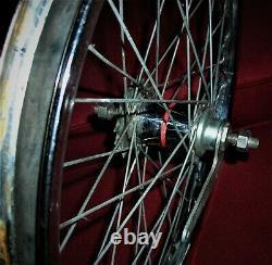 Original 1963 64 Schwinn Stingray 36 Hole Center Stamped 20 S-2 Red Band Wheel