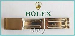 Original ROLEX Vintage Watch Bracelet Buckle CLASP Stamped 14k Trim 1960's