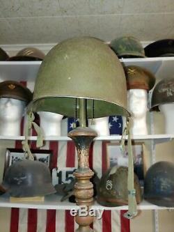 Original WW2 U. S. Army Airborne M2 Helmet D bale heat stamp 229A