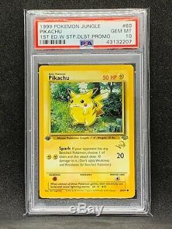 PSA 10 Pikachu 60/64 1st Ed. WOTC Gold W Stamped PROMO