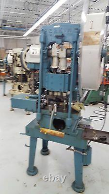 Perkins Transfer Stamping Punch Press Machine with Feed 15 Ton Pristine