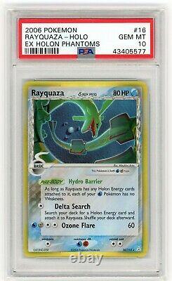 Pokemon Rayquaza EX Holon Phantoms #16 Holo Rare 2006 PSA 10 GEM MINT (POP 42)