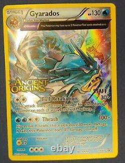 Pokemon TCG Ancient Origins GYARADOS Prerelease STAFF Stamped Promo XY60 LP