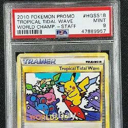 Pokemon Worlds 2010 STAFF Promo Tropical Tidal Wave HGSS Promo #18 PSA 9