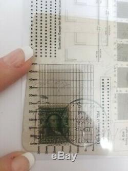 Post stamp Benjamin Franklin Stamp 1 cent Rare Great investment LOOK PERFORATION