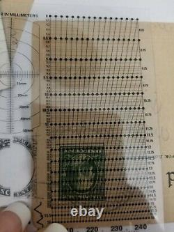 Post stamps Vintage One Cent Benjamin Franklin Rare Perforations Collectible