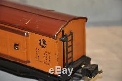 Prewar Lionel 2814 Boxcar Type II Flat Orange Heat-Stamped 1940