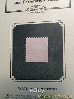 RARE 03 LB CORNER George Washington Shield 2C Cancel Red US Postage Stamp VF 319