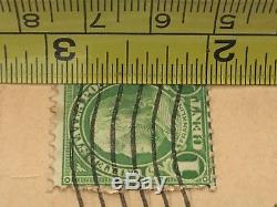 RARE USED 1 CENT GREEN Benjamin Franklin STAMP Possibly Scott 594 Or 596