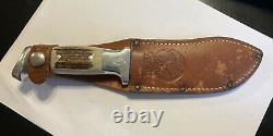 RARE! Vintage R. H. Ruana Bonner Montana Knife M Stamp with Original Sheath
