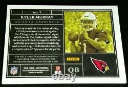 RC AUTO /99 KYLER MURRAY 2 COLOR JSY PATCH SP ROOKIE TRUE RPA #1 2019 Panini One