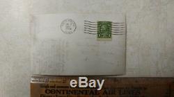 Rare 1 Cent Ben Franklin STAMP Mississippi River Postcard Guttenberg IA 1937