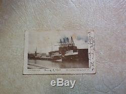 Rare 1903 2 Cent Red Line Washington Stamp 13 Star & Stripes Flag Cancellation