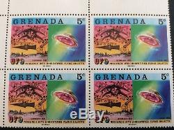 Rare 1978 Grenada UFO Alien Research Stamp United States Germany Wikileaks READ