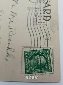 Rare Green Line 1 cent George Washington Stamp one cent on Postcard