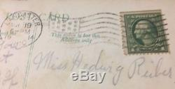 Rare Green Line Washington 1 Cent Stamp Error Top Right Corner Scotts #406