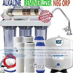 Reverse Osmosis Alkaline Ionizer Neg ORP System 100GPD CLEAR Faucet Choice Bonus