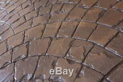 Roman Fan Decorative Concrete Stamp Mat Set by Walttools 7 Pc