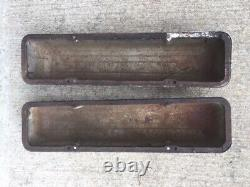 SBC Chevy CHROME GM Stamped Script Valve Covers 283 327 350 Original Vintage