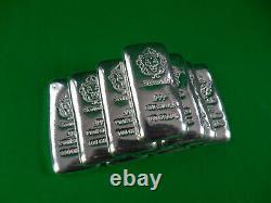 SCOTTSDALE MINT 100g Hand Stamped Cast 999 Silver Bullion Bar 1 pc